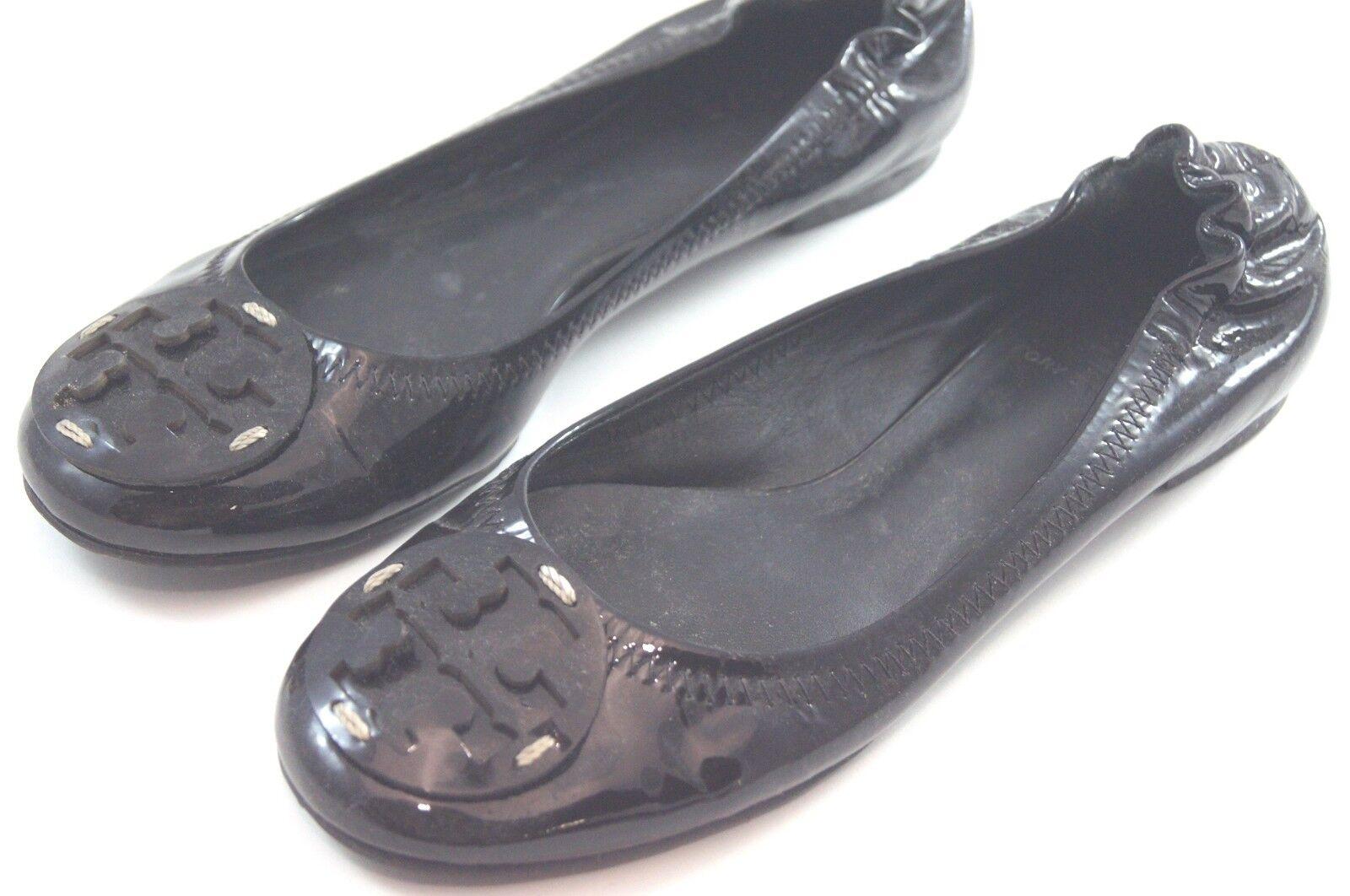 grandi prezzi scontati Tory Tory Tory Burch nero scarpe Reva Patent Leather Elastic Ballet Flats Dimensione 6  195 h17  solo per te