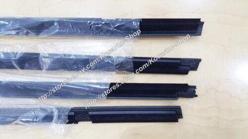 OEM Front Rear LH//RH Door Belt Weather Strip in Black 4PC KIA Sortage 2011-2016