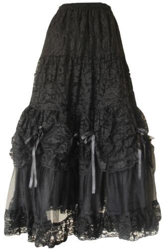 Victorien 1546 Nuptial Gothiques Jupe Différent Punk Dentelle Noir Longue Taille ICI7qwA
