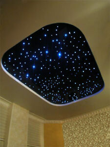 led sternenhimmel lampe lichtfasern 0 75 1 2mm fernbedienung lautlos ebay. Black Bedroom Furniture Sets. Home Design Ideas