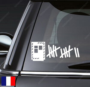 sticker autocollant humour score radar automatique pour votre voiture fan tuning ebay. Black Bedroom Furniture Sets. Home Design Ideas