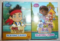 2 Decks Of Playing Cards Lot - Doc Mcstuffins Disney Jake And Neverland Pirates
