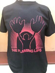 FLAMING LIPS BLACK T SHIRT Butthole Surfers Mercury Rev Grunge