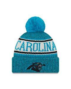 6657850d5 Carolina Panther New Era 2018 Sport Knit Sideline Knit Hat- Blue ...