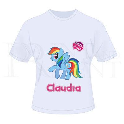 /'Rarity/' Personalised Childrens Girls My Little Pony MLP T-Shirt White