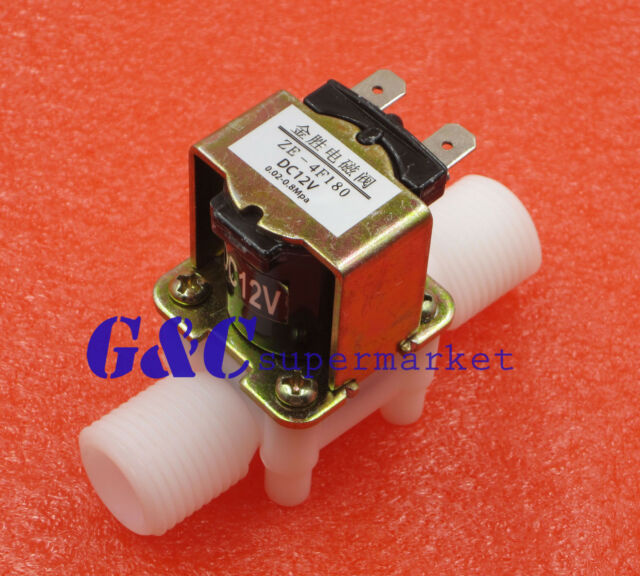 """12V Electric Solenoid Valve Magnetic DC N/C Water Air Inlet Flow Switch 1/2"""""""