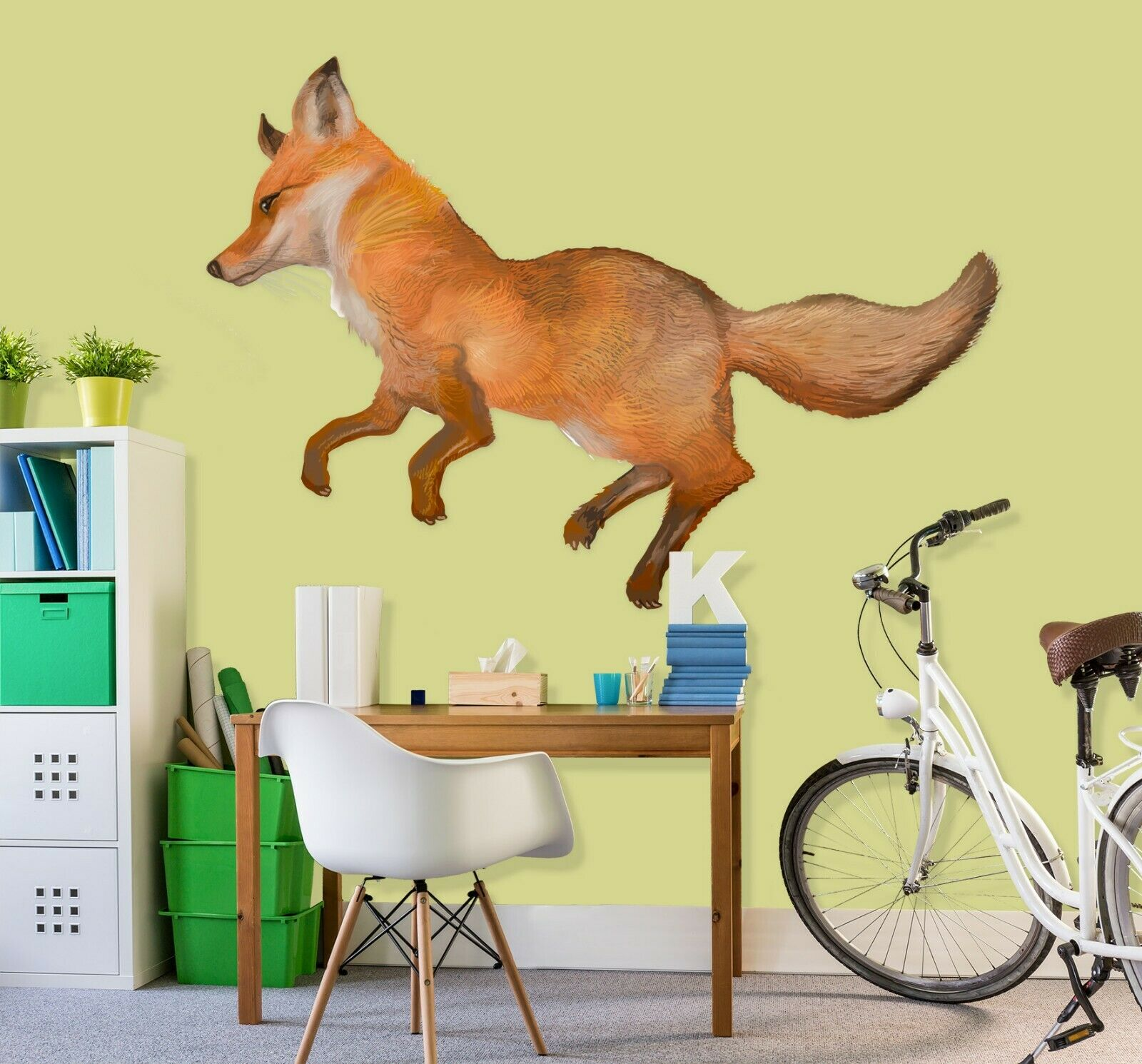 3D  Dog O34 Animal Wallpaper Mural Poster Wall Stickers Decal Angelia