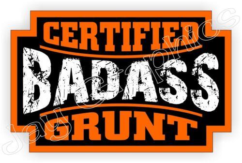 Badass GRUNT Hard Hat Sticker Safety Helmet Decal Label Laborer Shovel Operator