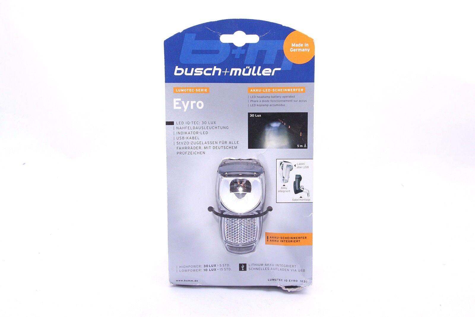 Busch & Müller Bicicletta Fanale Lumotec IQ Eyro, 163b  NUOVO
