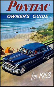Details about 1953 Pontiac Owners Manual 53 Chieftain and Catalina Owner  Guide Book