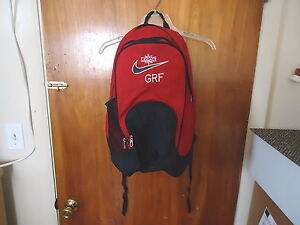 Vintage-Nike-Legacy-G-R-F-Red-And-Black-Backpack-034-BEAUTIFUL-COLLECTIBLE-USEAB
