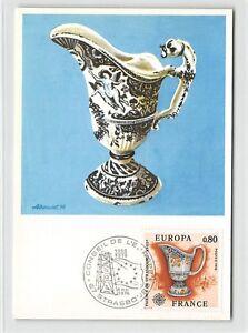 FRANCE-MK-1976-EUROPA-CEPT-FAIENCE-MAXIMUMKARTE-CARTE-MAXIMUM-CARD-MC-CM-d9651