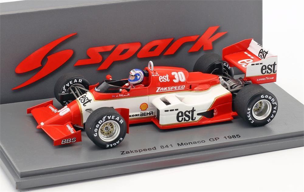 Zakspeed 841 Jonathan Palmer Monaco Gp 1985 in 1 43 von Spark
