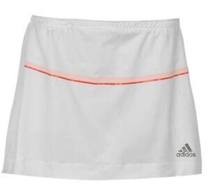 61f18589d Detalles de Adidas Barricade Falda Mujer Tenis Pantalón Blanco Rojo Talla  XL Nuevo con