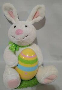 Hallmark Plush Rockin Rabbit Easter Bunny Chick in Egg Singing Moving Used