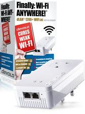 devolo dLAN 1200+ Wi-Fi AC Add-On Powerline Adapter (1200 Mbps, 1 x PLC Homeplug