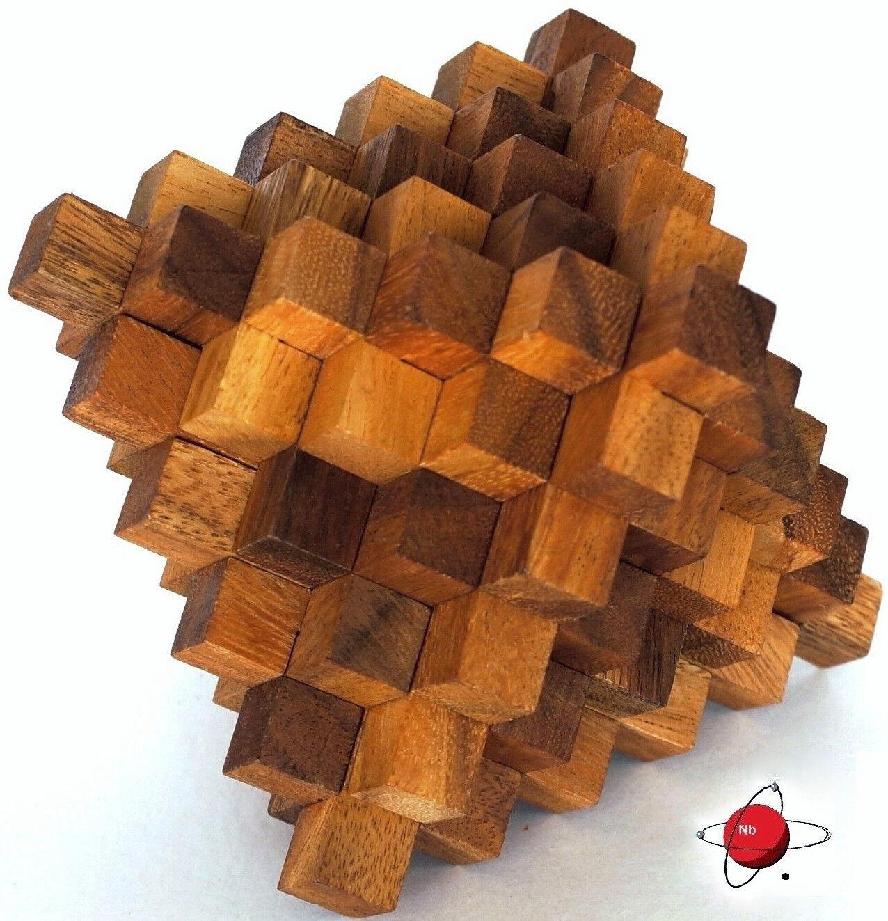 RELATIVITY - Wood Puzzle Brain Teaser Death Star Pagoda Noggin Busters