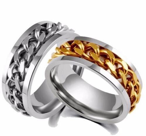 50 Edelstahlringe  Ring Ketten Fingerring Freundschaftsring Verlobungsring Band