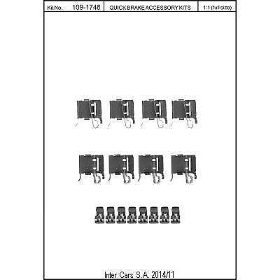 Scheibenbremsbelag QUICK BRAKE 109-1748 Zubehörsatz