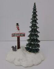 Dept 56 Village Let It Snow, Snowman Sign #52594 D56 Good Condition
