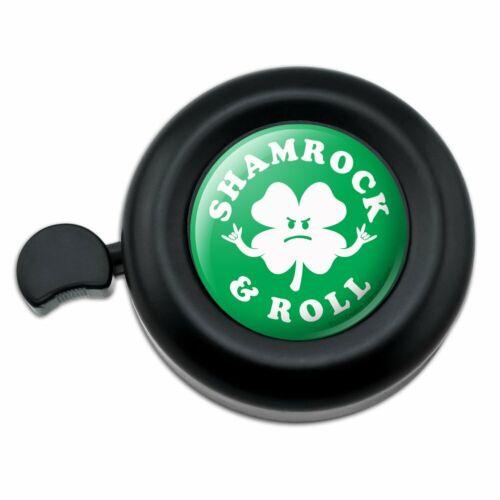 Shamrock and Roll Irish Rock Funny Humor Bicycle Handlebar Bike Bell