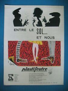 PUBLICITE-DE-PRESSE-PLASTIFEUTRE-REVETEMENT-DE-SOL-ILLUSTRATION-CLIVANEL-AD-1963