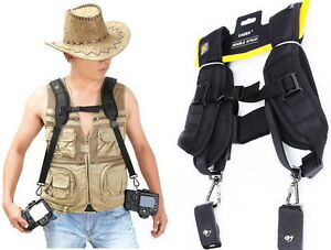Double-Camera-Shoulder-Dual-Neck-Strap-Quick-Sling-Strap-Belt-For-Sony-Canon-SLR