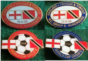 England-v-Trinidad-amp-Tobago-2006-World-Cup-15-June-2006-Oval-Football-Pin-Badge