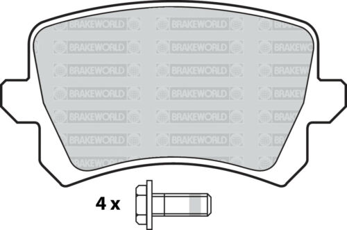 OEM SPEC FRONT AND REAR PADS FOR VOLKSWAGEN TIGUAN 2.0 TD 2007