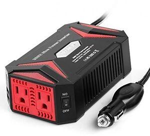 Bestek 300 watt power dc 12 volt to ac 110 volt pure sine wave bestek 300 watt power dc 12 volt to ac 110 volt pure sine wave inverter with 42 amp dual smart usb ports car adapter publicscrutiny Image collections