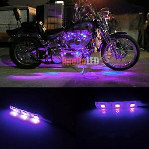 2x 5050 smd purple led strip lights for motorcycle under glow accent image is loading 2x 5050 smd purple led strip lights for mozeypictures Gallery