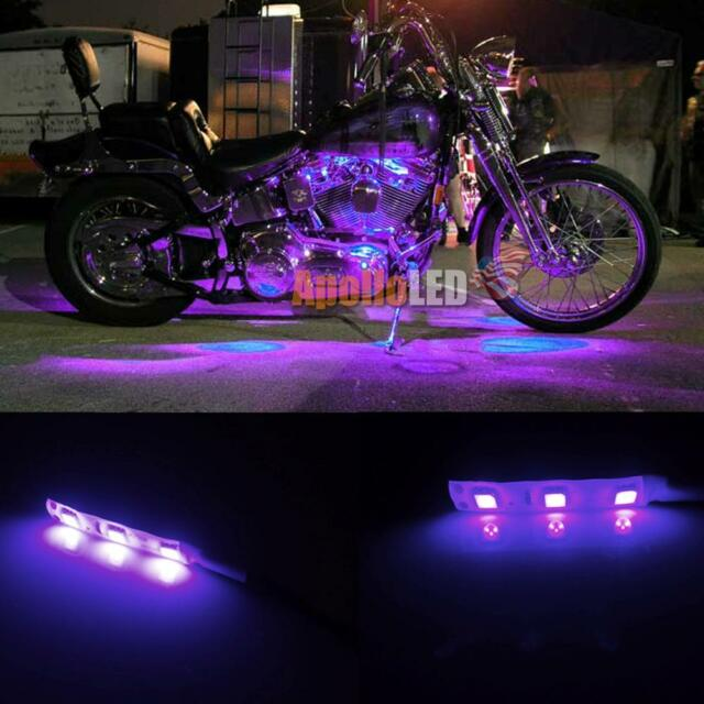 2x 5050 smd purple led strip lights for motorcycle under glow accent 2x 5050 smd purple led strip lights for motorcycle under glow accent lighting aloadofball Images