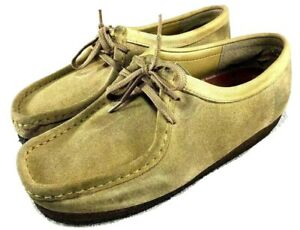CLARKS WOMENS Wallabee 35395 Loafers Shoes Tan Suede Size Us 9 M