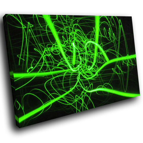 ZAB823 Green Black Funky Modern Canvas Abstract Home Wall Art Picture Prints