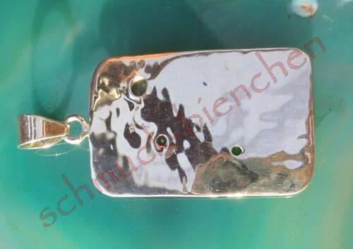 Ω Anhänger Peridot grün Stein d August äthiopischer Opal Sterling Silber 925