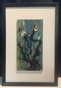 Vintage-Oil-Painting-Artist-Signed-Abstract-Expressionism