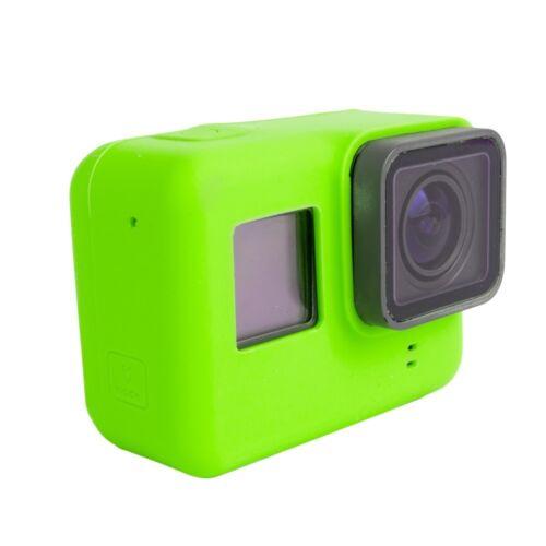 GoPro HERO 5 Silicona Funda Blanda Cubierta de goma protectora piel verde ** nuevo **