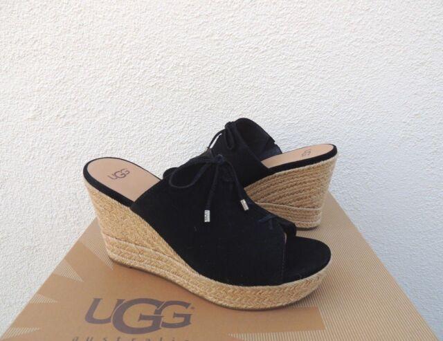 86381c59588 UGG Australia Giorgia Black Women's Wedge Sandals Size 6us