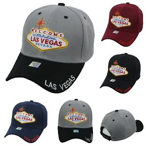 Welcome-Las-Vegas-Baseball-Cap-Casual-Hats-Fashion-Adjustable-Caps-Hip-Hop