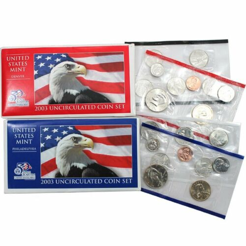 2003 P /& D US Mint Set United States Original Government Packaging Box Cello