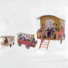 Creal Roulotte Zirkuswagen / traditional romany caravan natur 1:12 Art. 79618