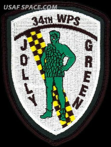 USAF 34th WEAPONS SQ ORIGINAL AIR FORCE PATCH NV JOLLY GREEN Nellis AFB