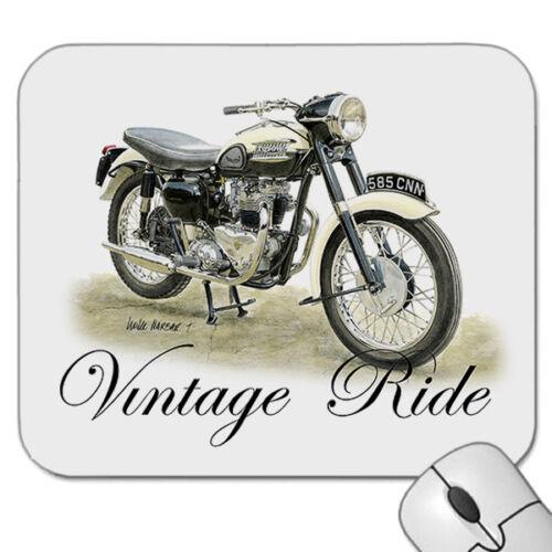 VINTAGE  1959  TRIUMPH  TIGER  110   650cc    MOTOR  BIKE    MOUSE PAD