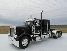 DCP 1/64 SCALE PETERBILT 379  FLAT TOP  BLACK & CHROME (TRACTOR ONLY)