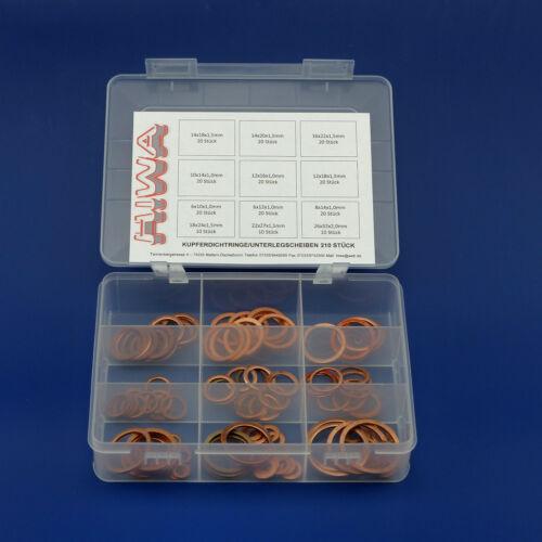 Kupferdichtungen Heimwerker Installateur Service Box 210 tlg