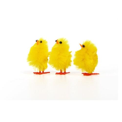 Mini Oster pollitos Chenille Pascua decorativas pollitos nestküken mesa decorativa 6er 4cm