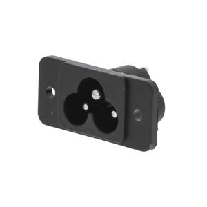Feeding connector male iec-320-c6 Black-G