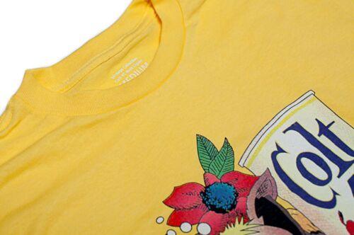 Yellow COLT 45 STOUT MALT LIQUOR Beer Jeff Spicoli Quality S-3XL Cotton T-Shirt