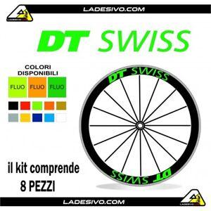 Kit adesivi//stickers cerchi bici bdc Dt swiss profilo 50mm colori a scelta 8 pez