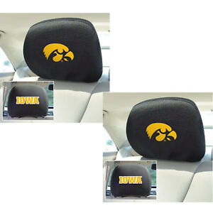ef176aed18b New 2pc NCAA Iowa Hawkeyes Automotive Gear Car Truck Headrest Covers ...